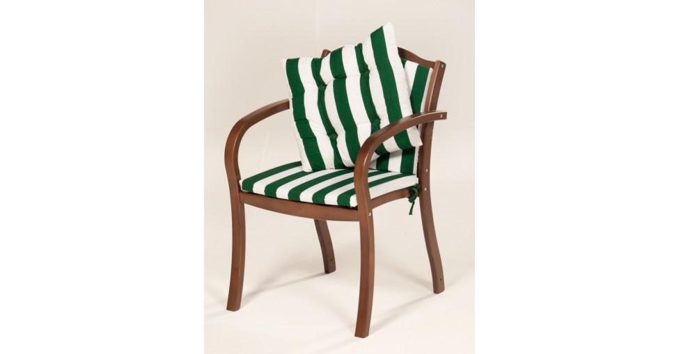 Кресло деревянное Верано с матрасами подушкой