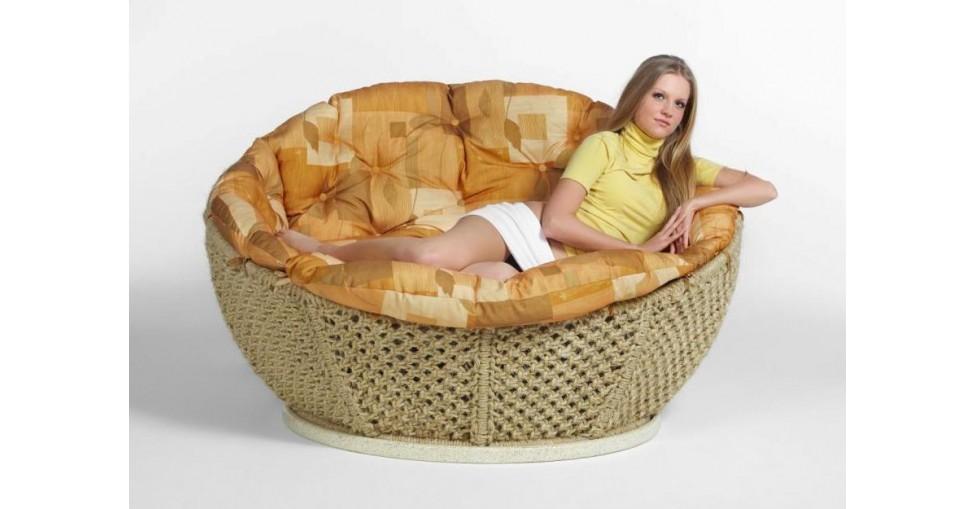 Кресло диван Фантазия сизалевое